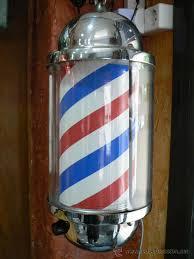 Rotulo o lampara de barbería peluquería antiguo - Vendido en Venta Directa  - 26220014